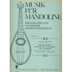 Holborne, Anthony: 6 Fansies und Pavane mit Galliarde und Almayne : für Mandoline und Gitarre, 2 Partituren