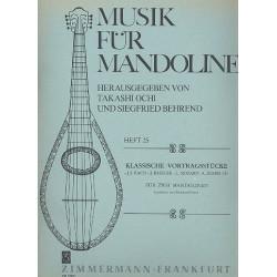 Klassische Vortragsst├╝cke : f├╝r 2 Mandolinen