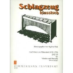 Ditters von Dittersdorf, Karl: Duo : für Vibraphon und Marimba 2 Partituren