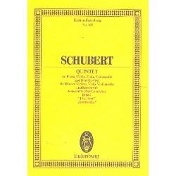 Schubert, Franz: Quintett A-Dur D667 : für Violine, Viola Violoncello, Kontrabaß und Klavier Studienpartitur