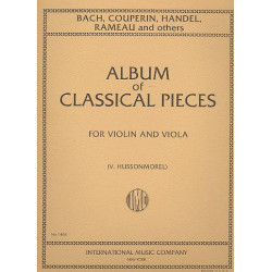 Album of classical Pieces : for violin and viola