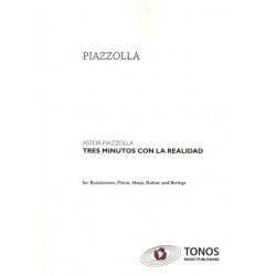 Piazzolla, Astor: 3 minutos con la realidad : für Bandoneon und Orchester Partitur