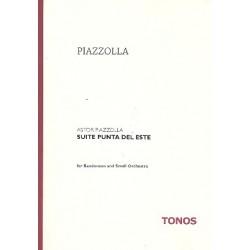 Piazzolla, Astor: Suite Punta del este : für Bandoneon, Flöte, Oboe, Klarinette, Fagott und Streicher Partitur