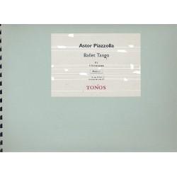 Piazzolla, Astor: Ballet Tango : für 4 Akkordeons Partitur und Stimmen
