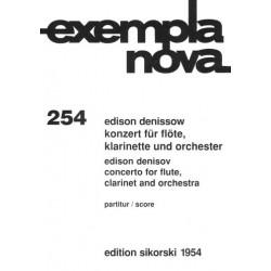 Denissow, Edison: KONZERT FUER FLOETE, KLARINETTE UND ORCHESTER PARTITUR EXEMPLA NOVA 254
