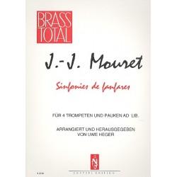 Mozart, Wolfgang Amadeus: Sinfonie de fanfares : für 4 Trompeten und Pauken ad lib. Partitur und Stimmen
