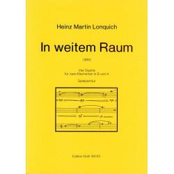 Lonquich, Heinz Martin: IN WEITEM RAUM (1991) 4 DUETTE FUER 2 KLARINETTEN IN B UND A SPIELPARTITUR