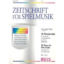 Haydn, Franz Joseph: 20 Flötenuhrstücke Band 1 (Nr.1-7) : für 3 Blockflöten (SAT) Spielpartitur