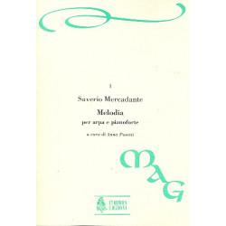 Mercadante, Saverio: Melodia : per arpa e pianoforte