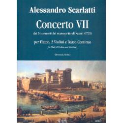 Scarlatti, Alessandro: Concerto no.7 : per flauto, 2 violini e bc (cello) parts
