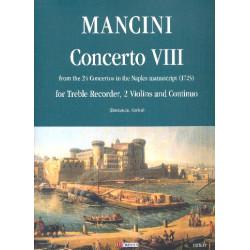 Mancini, Francesco: Concerto no.8 per flauto, 2 violini e bc parti