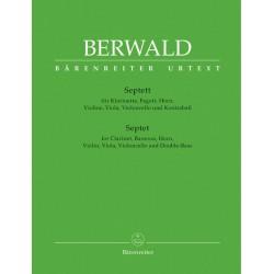 Berwald, Franz Adolf: Septett für Klarinette, Fagott, Horn, Violine, Viola, Violoncello und Kontrabass, Stimmen