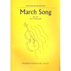 Waterhouse, Graham: March Song op.21,1 : f├╝r 4 Violoncelli