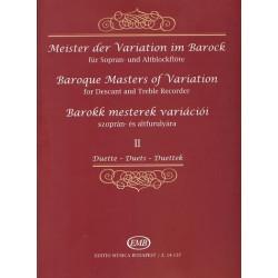 Meister der Variation im Barock Band 2 : für 2 Blockflöten (SA)