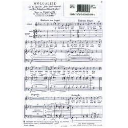 Lehár, Franz: Wolgalied aus Der Zarewitsch für Männerchor und Tenorsolo Chorpartitur