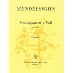 Mendelssohn-Bartholdy, Felix: Streichquartett e-Moll op.44,2 Stimmen