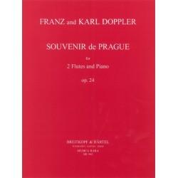 Doppler, Albert Franz: Souvenir de Prague op.24 : für 2 Flöten und Klavier