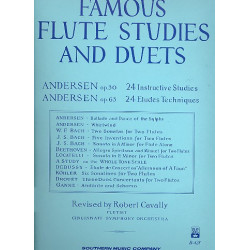 Andersen, Carl Joachim: 24 instructive Studies op.30 and 24 etudes techniques op.63 for 1-2 flutes
