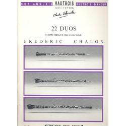 Chalon, Frederic: 22 duos : pour 2 cors anglais ou 2 hautbois