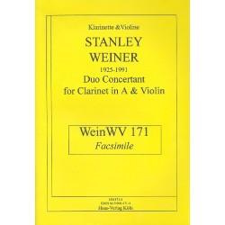 Weiner, Stanley: Duo concertant : für Klarinette in A und Violine Faksimile