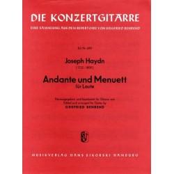 Haydn, Franz Joseph: ANDANTE UND MENUETT : FUER LAUTE BEHREND, SIEGFRIED, ED