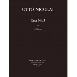 Nicolai, Otto Carl Ehrenfried: Duett Nr.3 für 2 Hörner Spielpartitur