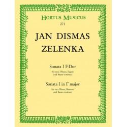 Zelenka, Jan Dismas: Sonate F-Dur Nr.1 : für 2 Oboen, Fagott und Bc