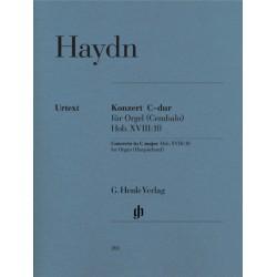 Haydn, Franz Joseph: Konzert C-Dur Hob.XVIII:10 für Orgel und Streicher Partitur