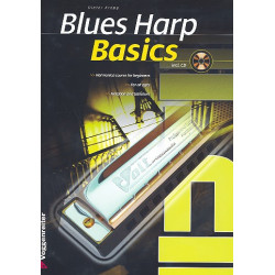 Kropp, Dieter: Basics Blues Harp (+CD, en)