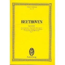 Beethoven, Ludwig van: Sextett Es-Dur op.71 für 2 Klarinetten, 2 Fagotte und 2 Hörner, Studienpartitur