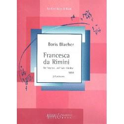 Blacher, Boris: Francesca da Rimini : für Sopran und Violine 2 Partituren