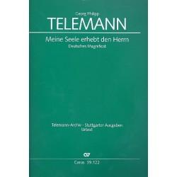 Telemann, Georg Philipp: Meine Seele erhebt den Herrn : für Soli (SATB), Chor und Instrumente Partitur
