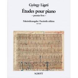 Ligeti, György: Études vol.1 : pour piano Facsimile