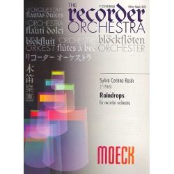 Rosin, Sylvia Corinna: Raindrops : f├╝r Blockfl├Âtenorchester Partitur und Stimmen