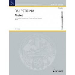 Palestrina, Giovanni Pierluigi: PRINCEPS GLORIOSISSIME MOTET FOR SSSA RECORDERS SCORE