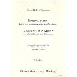 Telemann, Georg Philipp: Konzert e-Moll : f├╝r Oboe, Streicher und Bc Streicherset (3-3-2-3)