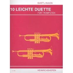 Huuck, Gustl: 10 leichte Duette : für 2 Trompeten Spielpartitur