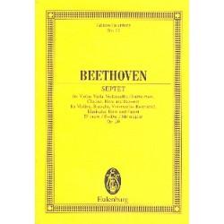 Beethoven, Ludwig van: Septett Es-Dur op.20 für Klarinette, Fagott, Horn, Violine, Viola, Violoncello und Kontrabaß,