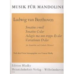 Beethoven, Ludwig van: 4 Stücke : für Mandoline und Cembalo