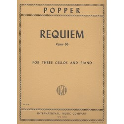 Popper, David: Requiem op.66 : for 3 violoncellos and piano