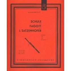 Satzenhofer, J.: Schule für Fagott (komplett, dt/en/russ)