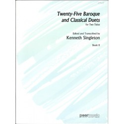 Singleton, Kenneth: 25 baroque and classical Duets vol.2 : for 2 tubas 2 scores