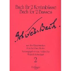 Bach, Johann Sebastian: Bach für 2 Kontrabässe Band 2 : 10 Präludien, Fughetta, Fuge Spielpartitur
