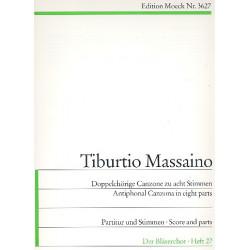 Massaino, Tiburtio: Doppelchörige Canzone zu 8 Stimmen Partitur und 9 Stimmen