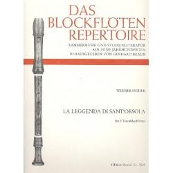 Heider, Werner: La leggende di Sant'Orsola : für 3 Tenorblockflöten Spielpartitur