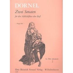Dornel, Louis-Antoine: 2 Sonaten : für 3 Altblockflöten Spielpartitur