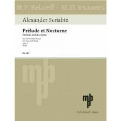 Skriabin, Alexander: Prelude et Nocturne op.9 : f├╝r Klavier linke Hand