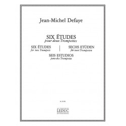 Defaye, Jean-Michel: 6 etudes : pour 2 trompettes