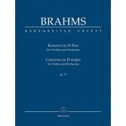 Brahms, Johannes: Konzert D-Dur op.77 für Violine und Orchester Studienpartitur