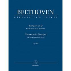 Beethoven, Ludwig van: Konzert D-Dur op.61 : für Violine und Orchester Studienpartitur